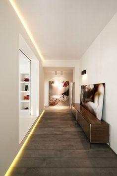 Most Elegant Hallway Light Fixtures : LED Hallway Lighting Fixtures. Led Hallway Lighting, Hallway Light Fixtures, Home Lighting, Lighting Design, Lighting Ideas, Lighting Stores, Linear Lighting, Accent Lighting, Strip Lighting
