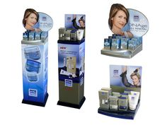 Nivea Point of Purchase counter display unit for DNAge cosmetics