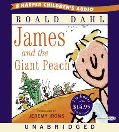 James and the Giant Peach: The perennial Roald Dahl favorite narrated by Jeremy Irons. Used Books, Great Books, James And Giant Peach, Audio Books For Kids, Just Right Books, Best Audiobooks, Book Report Templates, Jeremy Irons, Price Book
