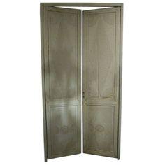 Set of four grey painted doors