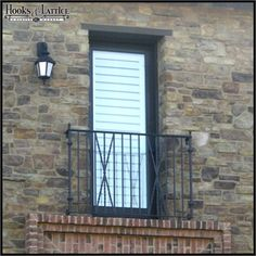 Boost curb appeal affordably with the elegant Banbury Iron Balconet. This lovely alternative to a traditional balcony is durable, inexpensive and a breeze to mount according to building code. Also known as a Juliet Balcony, this architectural trick is in Exterior Handrail, Outdoor Handrail, Iron Balcony, Balcony Railing, Types Of Architecture, Architecture Details, Wrought Iron Window Boxes, Iron Handrails, Aluminum Railings