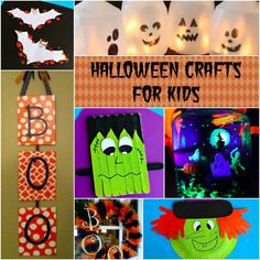 Halloween Crafts for Kids #witch #wreath #bats #diy from ComebackMomma.com