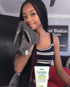 Braided Hairstyles For Black Women Cornrows, Weave Ponytail Hairstyles, Black Girls Hairstyles, Skai Jackson, Braids For Kids, Girls Braids, Black Girls Rock, Black Girl Magic, Flawless Skin Makeup