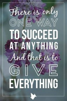 Give it everything you've got and don't give up. My business is all about helping you succeed and live a debt-free life. For great information www.okgethealthy.com