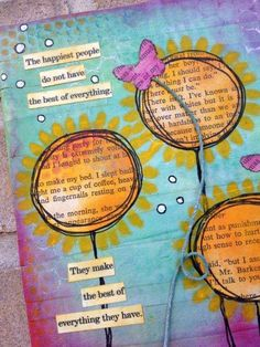 PanPastel® UK Challenge Blog: Special Features.  Love the words in the flowers and the string.