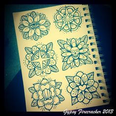 Gypsy Firecracker — Getting some traditional flower designs together...