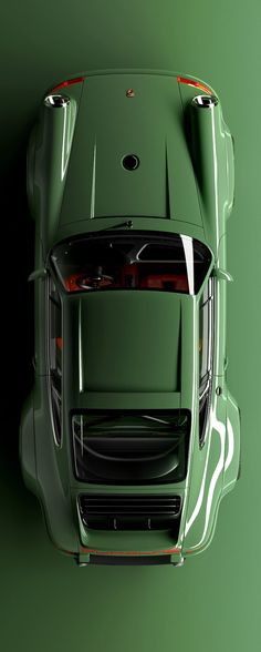 Iconic car design in green | Porsche 911 | by Singer Vehicle Design