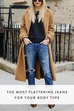 Step up your denim fashion game: From flares to skinnies, these are the best jeans for your body type.
