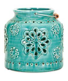 IMAX Turquoise Cordoba Lantern | zulily