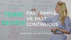 Past Simple v. Past Continuous: form and use of these two tenses. Learn English with Julia! Subscribe to my channel today! www.yourenglishhub.com for more free materials!