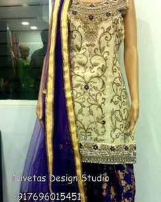 Follow for beautiful punjabi suit designs  @nivetas.design.studio…