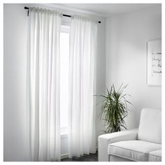 IKEA BORGHILD sheer curtains, 1 pair got for 13 euro. cm Article no: The curtains can be used on a curtain rod or a curtain track. Ikea Curtains, Curtains To Go, French Door Curtains, Curtains Living, Lace Curtains, Curtains With Blinds, French Doors, White Sheer Curtains, Nursery Curtains