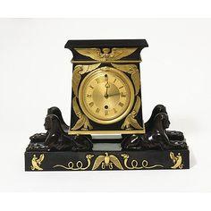 Clock by Vulliamy & Son, 1807  Egiptian Revival