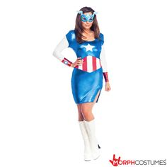 Avengers Fancy Dress Inspiration: As Captain America's female counterpart you'll shimmer in the Miss American Dream Dress. Why should the boys have all the fun when girls are just as good at ridding the world of evil?