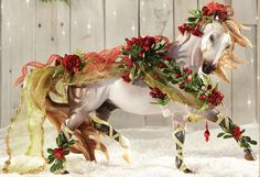"""Breyer's NEW Christmas Horse....""""Bayberry and Roses"""""""