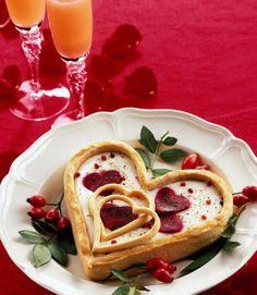 Torta salata a forma di cuore