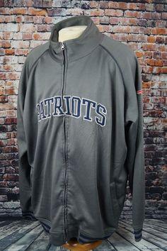 b7e336062 New England Patriots NFL Track Jacket Fleece Lined Full Zip Gray Mens 3XL T  Tall  NFLTeamApparel  NewEnglandPatriots