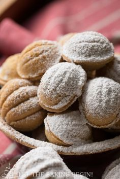 Walnut Shaped Cookies w/ Dulce de Leche Filling (Oreshki) - traditional holiday cookies that both adults and kids absolutely love! Try them for yourself! by Let the Baking Begin!