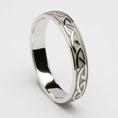 """Cabhan Celtic Wedding Ring (C-359) - Celtic Wedding Rings."" With blessing scribed in the inside"
