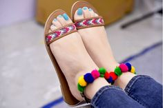 Buy Street Style Store Multicolor Synthetic Leather Pompom Chappals online in India at best price. Stylo Shoes, Street Style Store, Stylish Sandals, Beautiful Shoes, Beautiful Places, Shoe Collection, Shoe Closet, Wedding Shoes, Wedding Decor