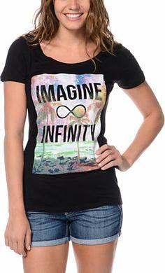 Empyre Girls Imagine Black Tee Shirt at Zumiez : PDPhttp://www.zumiez.com/empyre-girls-imagine-black-tee-shirt.html