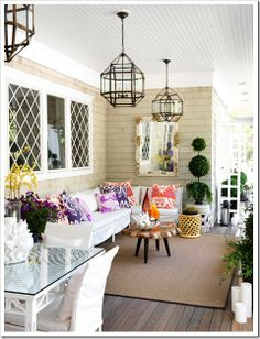 Morris Hanging Lantern by Suzanne Kasler via Traditional Home