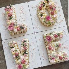 Especially beautiful cream cake, so beautiful! Especially beautiful cream cake, so beautiful! Especially beautiful cream cake, so beautiful! Especially beautifu Number Birthday Cakes, 25th Birthday Cakes, Bithday Cake, Number Cakes, Unicorne Cake, Cupcake Cakes, Pretty Cakes, Beautiful Cakes, Marzipan Creme