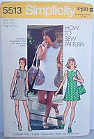 "$9.99 Vintage 70's ""Simple To Sew"" Mini-Dress and Bag Junior/Teen Sewing Pattern Size 9/10"