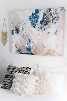 Sarah Schiear's Brooklyn Apartment Tour Bedroom Apartment, Home Bedroom, Bedroom Decor, Wall Decor, Cozy Apartment, Bedrooms, Wall Art, Bedroom Artwork, Bedroom Wall