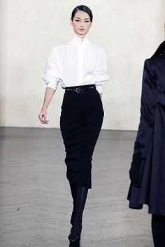JANUARY 2008: STYLE TREND FEATURES High-waisted trousers and White Shirts « DaisyLouise