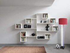 I Just Want This For My Cat To Climb On     Furniture: Astaunding Creative Wall  Shelves For Books With White Wall Mounted Book Storage And Brown Fur Feat  ...