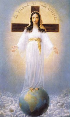 Our Lady of All Nations Lord Jesus Christ, Son of the Father, send now your Spirit over the earth. Let the Holy Spirit live in the hearts of all Nations, that they may be preserved from degeneration, diaster and war. May the Lady of All Nations, the Blessed Virgin Mary, be our Advocate! Amen