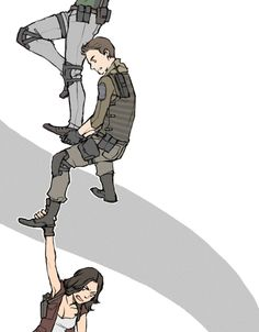 Resident Evil Chris Redfield claire redfield Jill Valentine Albert Wesker Rebecca Chambers leon s. kennedy Ada Wong helena harper jake muller Piers Nivans Barry Burton Oh god ... tag attack. Sherry Burkin Normally I wouldn