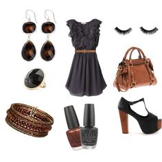 Night out, created by rubyyyred on Polyvore