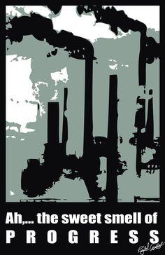 Pollution Poster by Raychel Castelletti