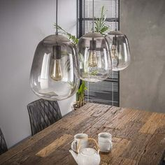 Chroma - Loftlampe i shaded glas Suspension Bar, Glass Vase, Kitchen, Pier Import, House, Metal, Home Decor, Transitional Chandeliers, Ceiling Light Fixtures