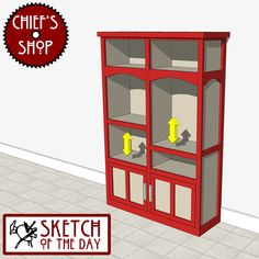 Sketch of the Day: After School Storage Locker #woodworking