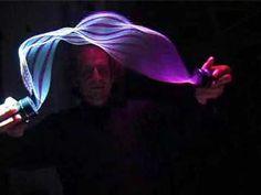 hand held kinetic light sculpture by Paul Friedlander.