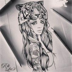 tiger man sketch - Google Search