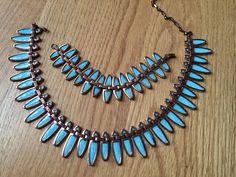 RARE  : Renoir Mattisse Nefertiti 1950S Vintage Turquoise Necklace & Bracelet
