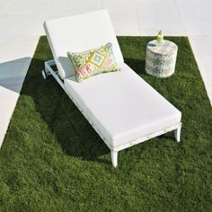 chaise lounge with cushions in white finish chaise lounges