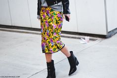 falda tubo flores
