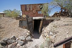 Entrance to mine, Castle Dome City Landing Ghost Town, Yuma, Arizona