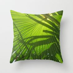 Palm Shadows Throw Pillow by Rosie Brown - $20.00