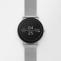 Danish watch brand Skagen has unveiled its first ever touchscreen smartwatch, which is typical of the brand's stripped-back aesthetic. Army Watches, Seiko Watches, Cool Watches, Watches For Men, Wrist Watches, Sport Watches, Skagen Watches, Popular Watches, Android Wear