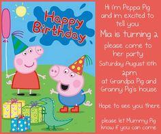Peppa pig party supplies peppa pig pinterest peppa pig party mias peppa pig party invites love the wording just like the cartoon filmwisefo Images