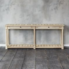 A Practical Storage Piece For Indoors And Out, This Console Table Is Made  From Durable