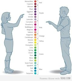Women's view of colors VS a man's view!