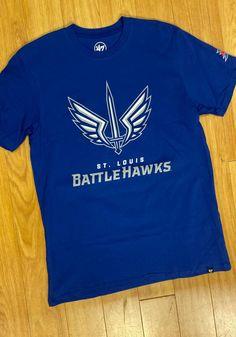 47 St Louis Battlehawks Blue Imprint 2 Peat Short Sleeve T Shirt - 48006389 Great Books, St Louis, Short Sleeve Tee, Tees, Mens Tops, T Shirt, Blue, Shopping, Fashion