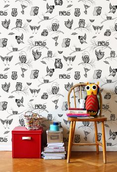 mini owl empire wall paper! I bet Heaven's wall have this wall paper!